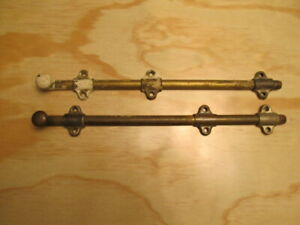 Vintage Brass 12 Sliding Surface Bolt Latch Lot Of 2