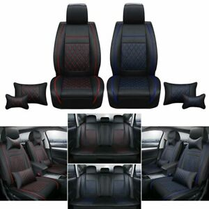 Universal Car Seat Cover Full Set Cushion Protector Front rear Cushion Red blue