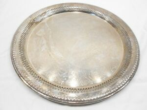 Fb Rogers Silver Co 6707 Reticulated 15 Serving Tray
