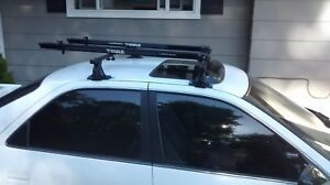 Thule 50 Roof Rack For Toyota Camry 1997 2003 And 2 Fork Mount Bike Carriers