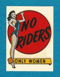 Vintage Original 1950 s no Riders Pinup Water Decal Rat Rod Old School Hot Rod