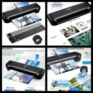 A4 Paper Cutter And Corner Rounder Thermal Laminator Machine 2 Roller System New