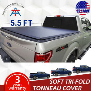 For 2004 2014 Ford F150 Tonneau Cover Soft Tri fold Short Trunk Crew Cab 5 5ft