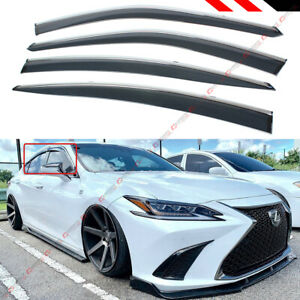 For 2019 2020 Lexus Es300h Es350 Vip Chrome Trim Clip on Window Visor Rain Guard