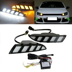 New Drl For Vw Scirocco 2010 2014 3 Color Led Daytime Running Light With Signal