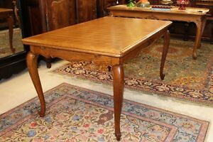 French Antique Louis Xv Oak Draw Leaf Table Dining Room Furniture