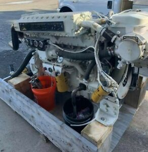 Caterpillar Cat 3196 Marine Diesel Engine With Twin Disc 5114 1 75 Transmission