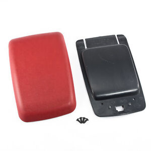 87 93 Mustang Red Center Console Arm Rest Pad Cover Trim Panel Base