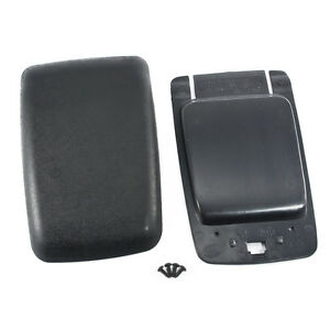 87 93 Mustang Black Center Console Arm Rest Pad Cover Trim Panel Base