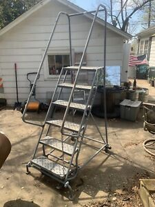 Warehouse Rolling Ladder 6 Step