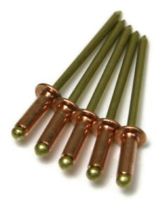 Copper Pop Rivets 1 8 Diameter 4 Copper Blind Rivets With Brass Mandrel