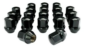 20 14x1 5 Black Lug Nuts Chevy Camaro Dodge Charger Challenger For Stock Wheels