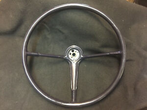 Custom Blue Recast 1955 1956 Chevy Bel Air Steering Wheel