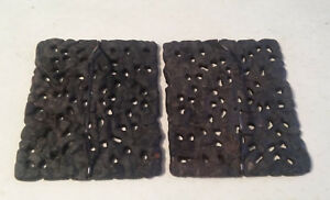 Set Of 2 Vintage Cast Iron Stove Top Covers Plates Lids 9 5 8 X 8