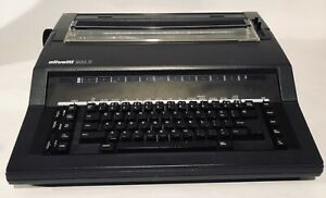 Olivetti 900 X Electronic Typewriter With Brand New Cartridge Tested And Working