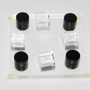 Vintage Mid Century Lucite Plastic Acrylic Tic Tac Toe Game Board