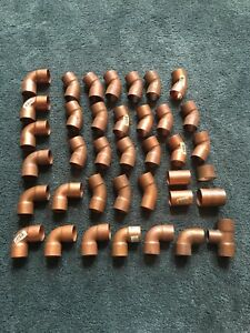Lot Of 38 Copper 1 1 4 T 45 90 Couplings New Nibco Plumbing Fittings