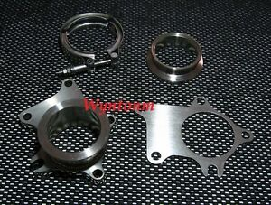 T3 5 Bolts Turbo Downpipe Flange 2 5 V Band Kit Outlet Ss Gasket