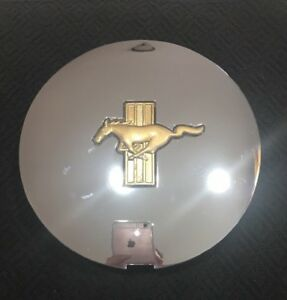 Chrome Gold Ford Mustang F1zc 1a096 Aa Factory Oem Wheel Center Gt Rim Cap Cover