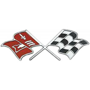 Full Size Chevy Continental Kit Emblem With Crossed Flags Logo 1959 1960