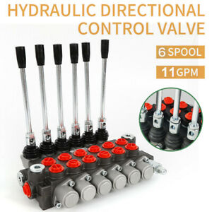 6 Spool Hydraulic Directional Control Valve 11 Gpm Small Tractors Log Splitters