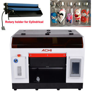 Achi A3 Uv Printer Rotary Holder For Bottles Cylindrical Rotation Embossed Us