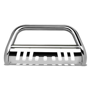 Fit 18 19 Jeep Wrangler Stainless Steel 3 Bull Bar Bumper Grill Push Brush Guard