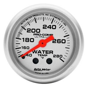 Auto Meter 4331 Ultra lite Mechanical Water Temperature Gauge