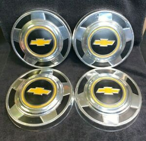 Vintage 1970 S 1979 1980 Chevy 1 2 Ton 2wd Pickup Truck Dog Dish Hubcaps