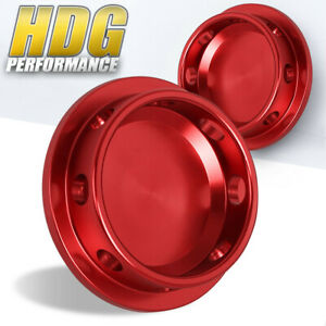 Round Engine Valve Red Oil Cap Fuel Fill For Universal Mazda Pitch Thread