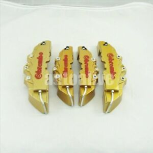 3d Gold Red Style Universal Disc Brake Caliper Cover 4pcs Front