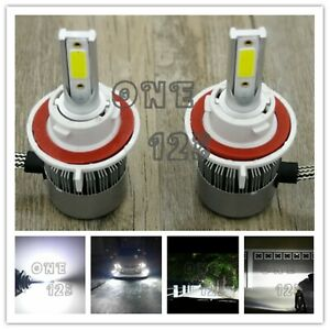 H13 9008 Cree Led Headlight Bulbs Conversion Kit High Low Beam 6000k White 55w