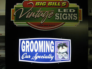Business Led Lighted Sign Pet Grooming