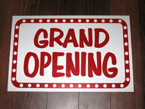 General Business Sign Grand Opening