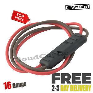 2 Way Sae Battery Tender Quick Connector 2 Pin Socket Plug Cable Flat Harness