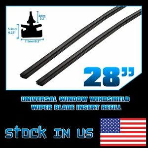 Replacement 3pcs 28 Refills Silicone Material Auto Van Windshield Wiper Blade