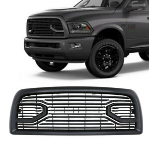 Fit 2013 18 Dodge Ram 2500 3500 Matte Black Front Grille W all Letters