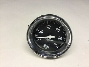 Auto Meter 2312 Auto Gage Mechanical Oil Pressure Gauge 2 5 8 Inch