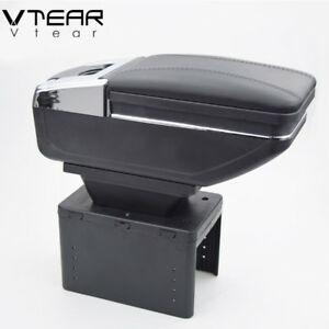 Vtear Universal Car Armrest Box Cup Holder Pu Leather Auto Car styling 1999 2019