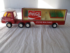 VINTAGE BUDDY L COCA COLA TRUCK AND TRAILER-(JAPAN )