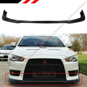 For 2008 2015 Mitsubishi Evo X 10 Mr Ral Style Front Bumper Lip Spoiler Splitter