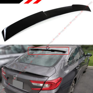 For 2018 2021 Honda Accord Jdm Sleek Type Glossy Black Rear Window Roof Spoiler