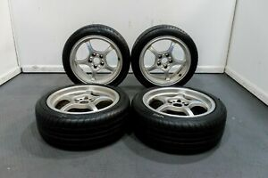 Used Rays Gram Lights Silver 57c Wheels 17x7 5 5x114 Lightweight With Good Tire