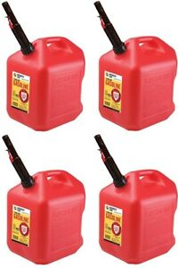 4 Ea Midwest Can Co 5610 5 Gallon Gas Can W Flameshield Spout