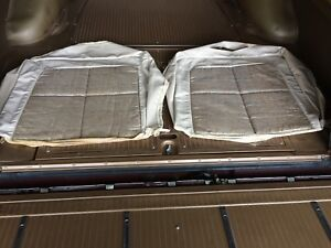 1963 Lincoln Continental Beige silver Cloud Front Seat Upper Set Nos