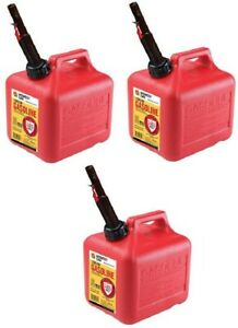3 Ea Midwest Can Co 2310 2 Gallon Gas Cans W Flameshield Shut Off Spout