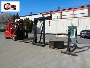 2010 Bristol Riggers Special Mfg Rs60 60 000lbs Forklift With Riggers Boom