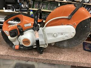 Stihl Ts420 Concrete Cut off Saw With Blade Mint Condition Cranks Quickl