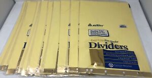Lot 11 New Avery 11x17 Insertable Tab Post Binder Dividers Sets 11644 Gold Line
