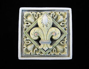 Fleur De Lis French Iris Flower Gothic Ellison Tile